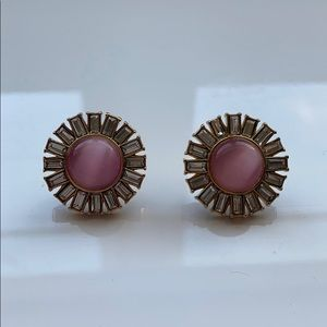 Pink and gold Kate spade earring